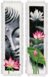 Lotus en Boeddha Boekenlegger set van 2 Vervaco