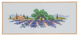 Lavendelveld Aida Vervaco Telpakket