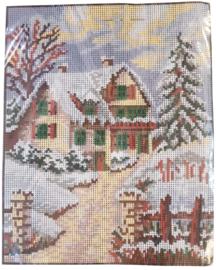 Winter Scene Pre Printed Canvas Vervaco