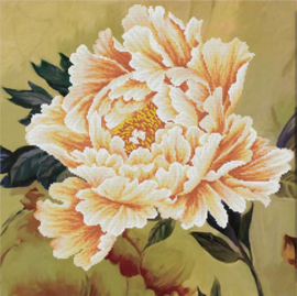 Blooming Peony 2 Voorbedrukt Borduurpakket Needleart World