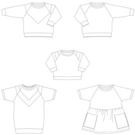 Isa Sweater, Croptop en Sweater(jurk) Kids - Bel'Etoile