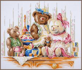 Speelgoed en beren Diamond Painting Lanarte