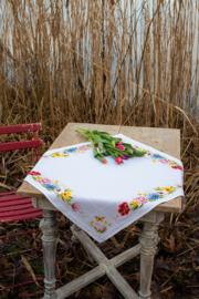Kleurige Bloemen Tafelkleed Aida Vervaco