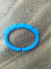 Donkerblauwe Driehoek Kunststof Bijtring