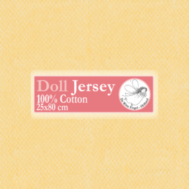 "Yellow Doll Jersey 25x80cm / 9.8""x31.5"""