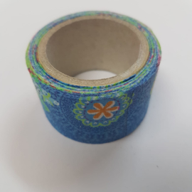 Blauwe Flower Power 2mx30mm Pimptape Oaki Doki