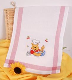 Winnie the Pooh theedoek Aida telpakket Vervaco