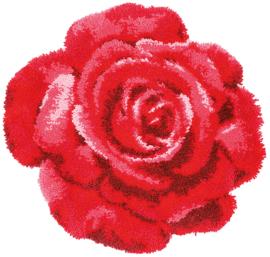 Rode Roos Knoopkleed Vervaco