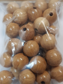 """12mm/0.5"""" 38pcs. Lacquered Wooden Beads"""