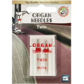70/1.6 Tweeling Naalden Organ Needles