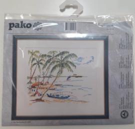 Palmbomen aan het strand Aida borduurpakket - Pako