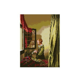 Lady Reading a Letter Jan Vermeer Pre-Printed Canvas Deco-Line