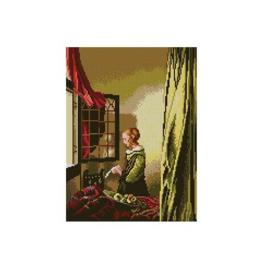 Brieflezend Meisje Jan Vermeer Voorbedrukt Stramien Deco-Line