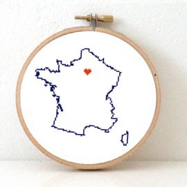 Frankrijk Borduurpatroon