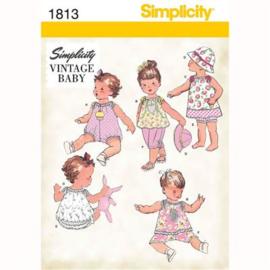 1813 A Vintage Baby Simplicity 0 - 18 maanden