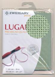 Groene Voorgesneden Lugana Evenweave 25ct - 10dr/cm Zweigart 48x68cm