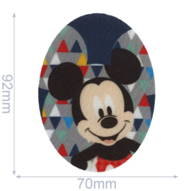 Mickey Mouse Ovaal Applicatie