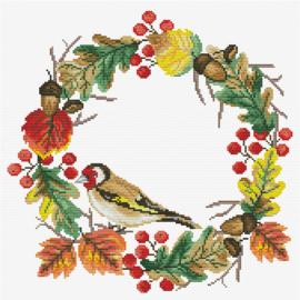 Autumn Wreath Voorbedrukt borduurpakket - Needleart World