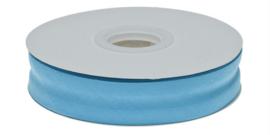 Aqua Blauw Gevouwen Biasband 20mm p.m.