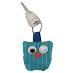Vertical Striped Owl Aida Key Ring Permin