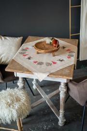 Moderne kerstmotieven Voorbedrukt tafelkleed - Vervaco