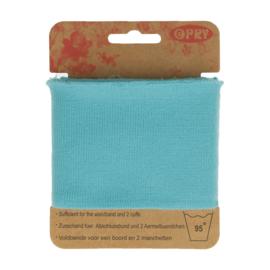 Turquoise Uni Boordstof Opry