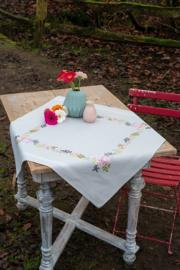 Bloemen en blaadjes bedrukt Tafelkleed Vervaco