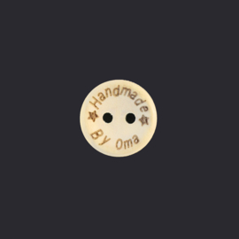 Handmade by oma Wooden Button