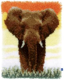 Olifant op de Savanne II Vervaco Knoopkleed