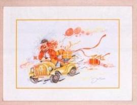 Lanarte borduurpakket clown in auto 15613 Aida