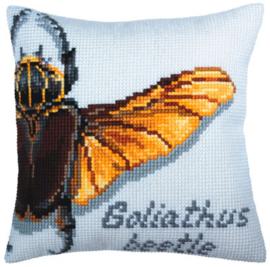 Goliathus Beetle Voorbedrukt Kussen Collection D'Art