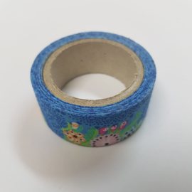 Blauwe Flower Power 2mx20mm Pimptape Oaki Doki