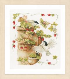Aardbeien en vogels Evenwave Telpakket Lanarte