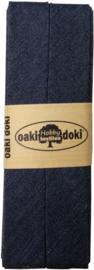 Donker Blauw Jeans Biaisband Oaki Doki