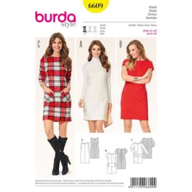 6609 Jurk in Variaties Burda Style Maat 34 - 46