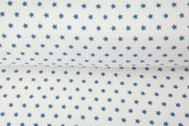 Wafeldoek met badstof Blauwe ster