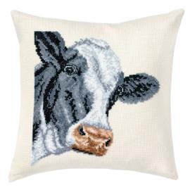 Cow - Permin kruissteek kussen (telpatroon)