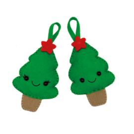 Christmas Trees DIY Woolfelt kit HardiCraft