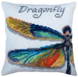 Dragonfly Voorbedrukt Kussen Collection D'Art