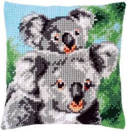 Koala met Baby Voorbedrukt Kruissteekkussen Vervaco