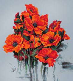 The Poppies aida borduurpakket - Luca-S