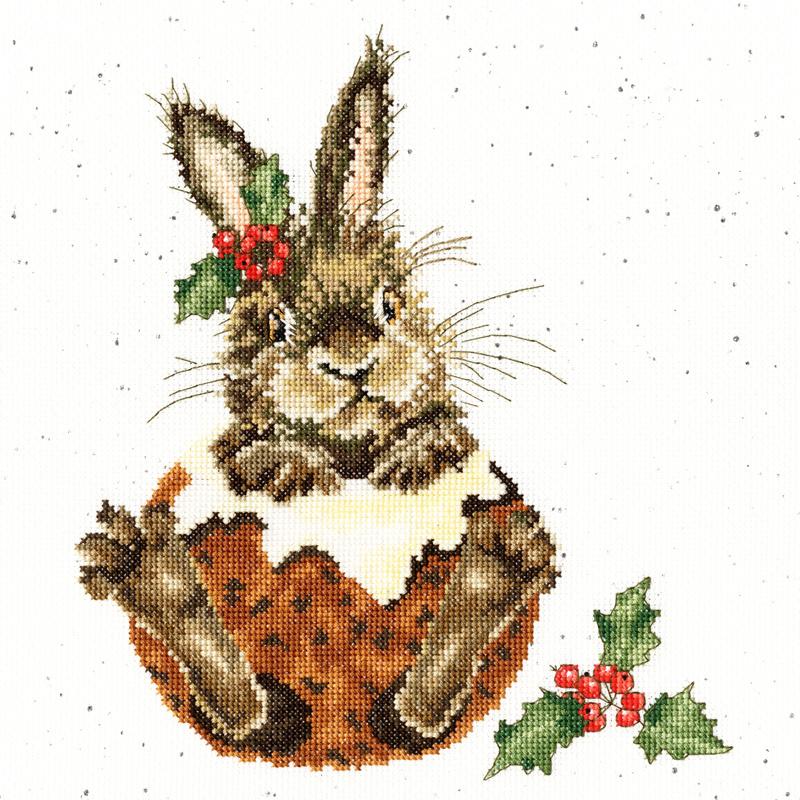 Little Pudding Aida Wrendale Designs by Hannah Dale borduurpakket - Bothy Threads