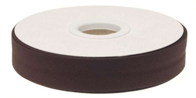 Donker Bruin Gevouwen Biasband 20mm p.m.