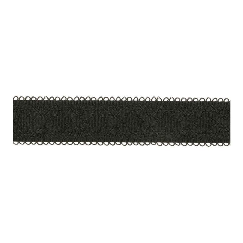19mm BH-elastiek Picot zwart