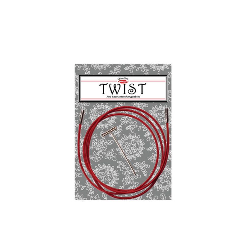 125cm Small Twist Red kabel
