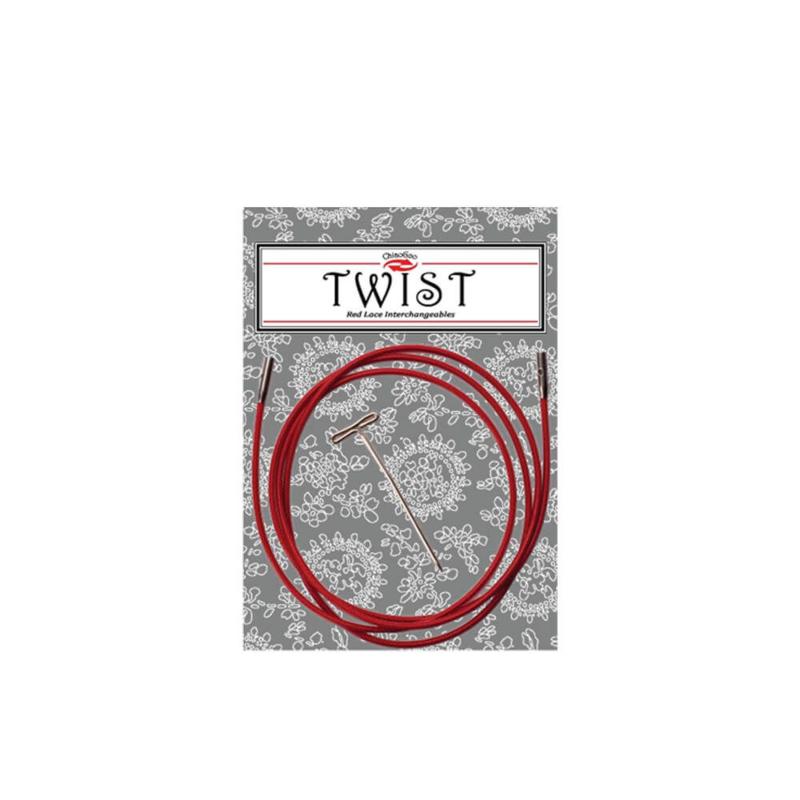 125cm Large Twist Red kabel