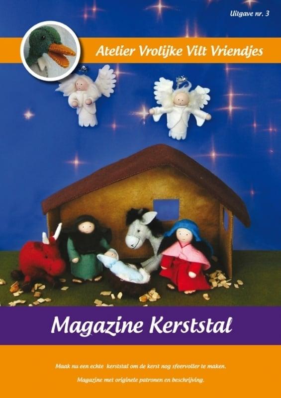 Magazine Kerststal Vrolijke Vilt Vriendjes