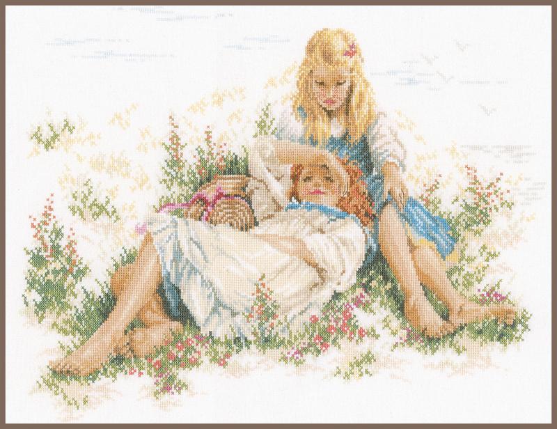Dromen in het Gras Evenweave Lanarte Borduurpakket