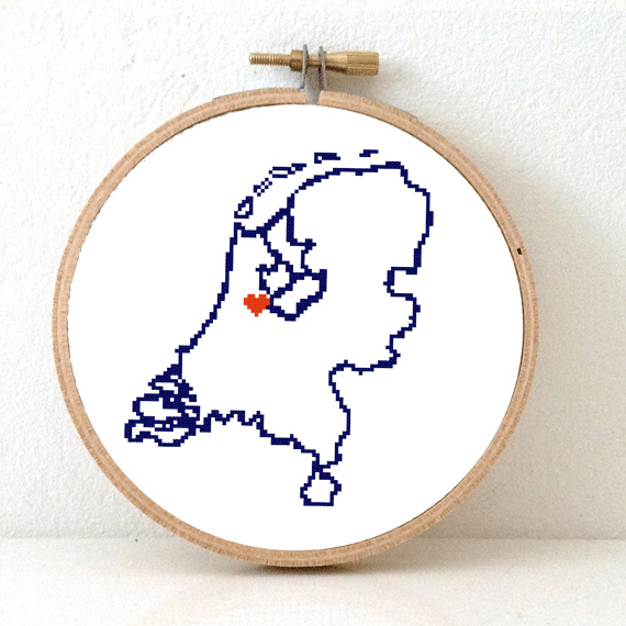 Nederland Borduurpatroon