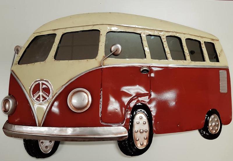 Muurdecoratie VW T1 Rood
